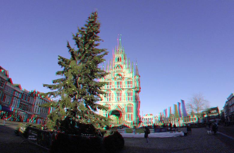 IJsbaan Stadhuis Gouda 3D GoPro - IJSbaan Gouda 3D Gopro