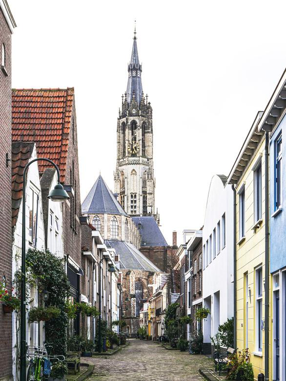 Trompetstraat - met uitzicht op de Nieuwe Kerk.<br /> <br /> Bedankt voor de fijne reacties bij &#039;panorama&#039; en &#039;detail panorama&#039;.
