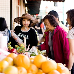 china town women at store