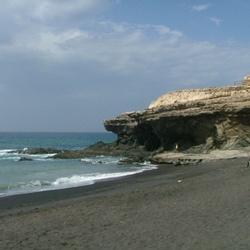 Het strand van Puerto de la Pena.