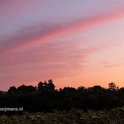 Zonsondergang in Gondrin
