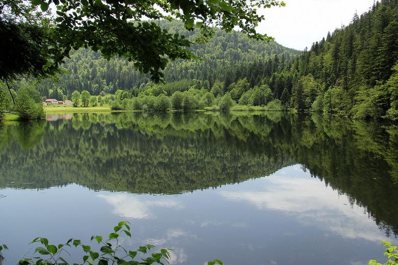 Lac de Retournemer - Foto gemaakt aan de oever van Lac de Retournemer in Frankrijk op een erg warme dag. Even in de schaduw...