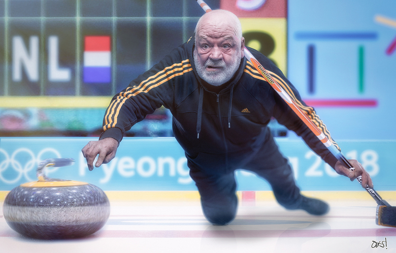 """Van onze verslaggever - Topspeler Jaap is al enige tijd in PyeaongChang om zich voor te bereiden van het olympisch onderdeel Curling  <img  src=""""/imag"""