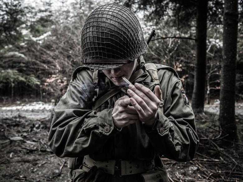 G.I. - Deze foto maakte ik tijdens de Bastogne Historic Walk, een herdenkingswandeling die jaarlijks in Bastogne wordt gehouden. Ik zag een groepje zg