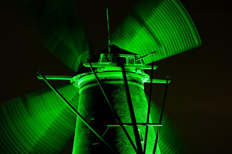 Molen in light - Verlichte molen
