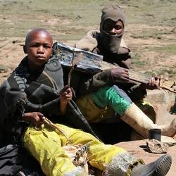 Muziek maken in Lesotho