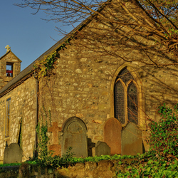 Old Welsh church and graveyard._01