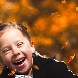 vrolijk herfstportretje