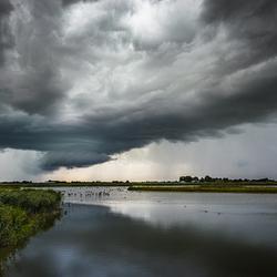 Regen, onweer en licht