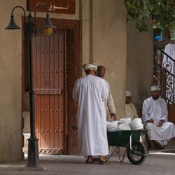 Straatbeeld Nizwa, Oman