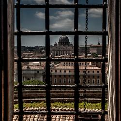 uit het raam in Rome