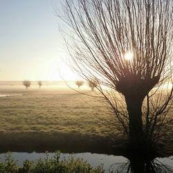 Fietsend genomen foto van zonsopkomst. IIII