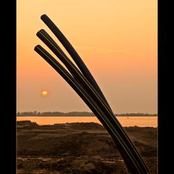 Abstracte zonsondergang....