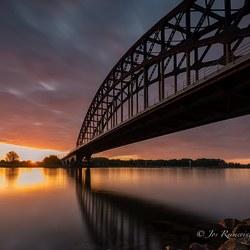 Zonsopkomst bij brug Zwolle