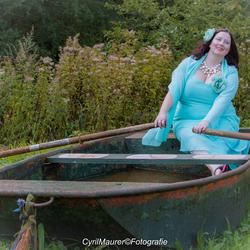 Tamara in the boat