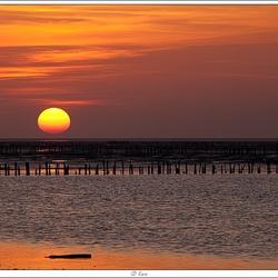 Noordkaap (groningen) zonsondergang