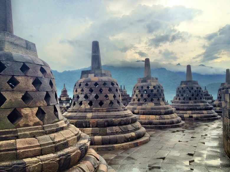 Borobodur, Java -
