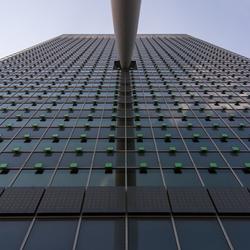 Mooie gevel KPN gebouw Rotterdam