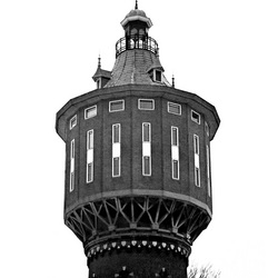 Watertoren Sneek in de winter