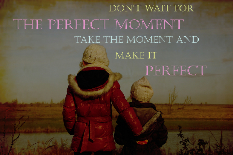 Kijk in de verte - Don&#039;t wait for the perfect moment,<br /> Take the moment and make it perfect.