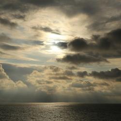 Avondlucht op de Afsluitdijk