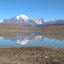 Torres del Paine in spiegelbeeld