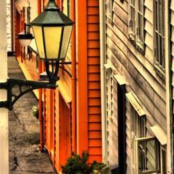 Straat in Bergen, Noorwegen
