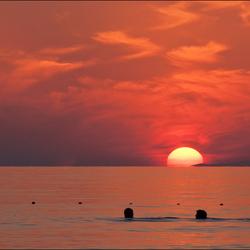 Zonsondergang bij Alanya
