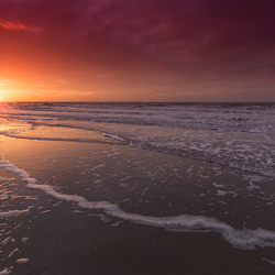 Zonsondergang op Zuiderstrand