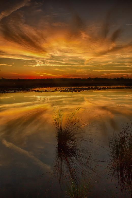 Enjoying the sunset! - Maandagavond genoten van een prachtige zonsondergang in de Engbertsdijksvenen &quot;mijn  achtertuin&quot;.<br /> <br /> Iede