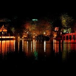 The 'waterline' in Hanoi.