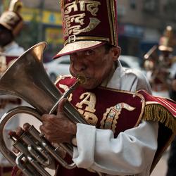 Tuba speler in Delhi