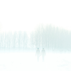 Two people in the snow...