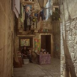 Vredige rust in Trogir, Kroatie