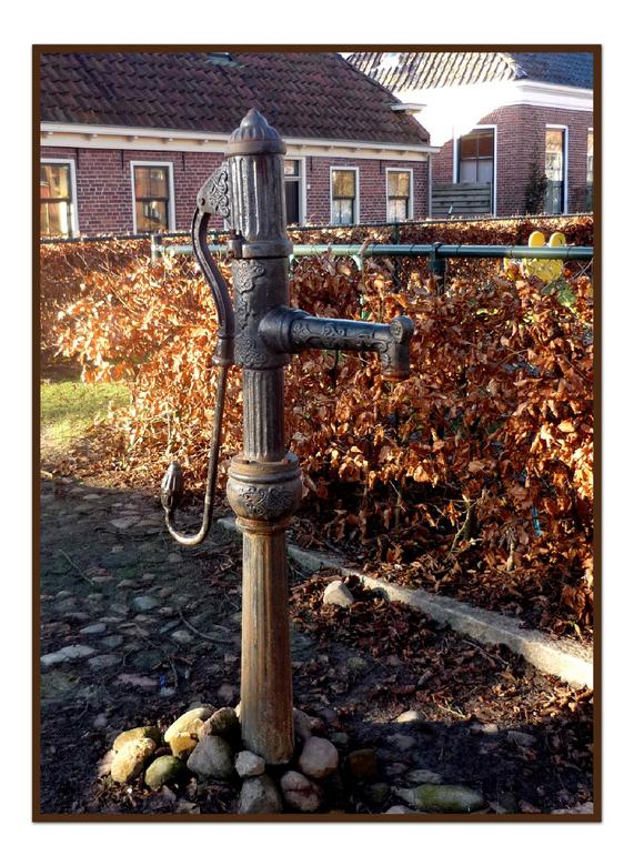 Oude Gietijzeren Waterpomp.Westerkwartier 14 Waterpomp Architectuur Foto Van Cgfwg