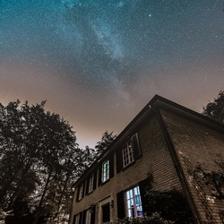 Milkyway on the polluted sky