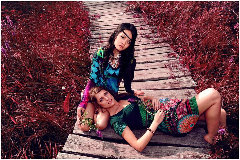 Kimm & Ming - Flower Power shoot met Kimm & Ming