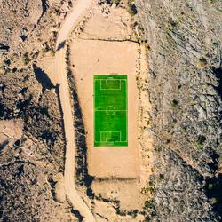 Voetbalveld in de Jabel Shams gebergte, Oman!