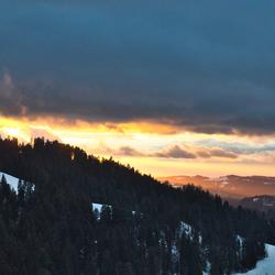 zonsondergang Zwitserland