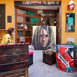 Schilderij Nacho Puerto.