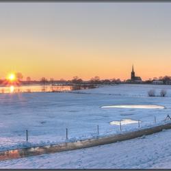 Batenburg zonsondergang