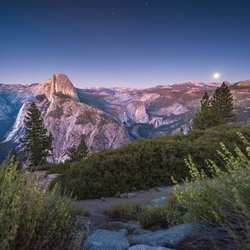 Yosemite | Half dome view from glacier point