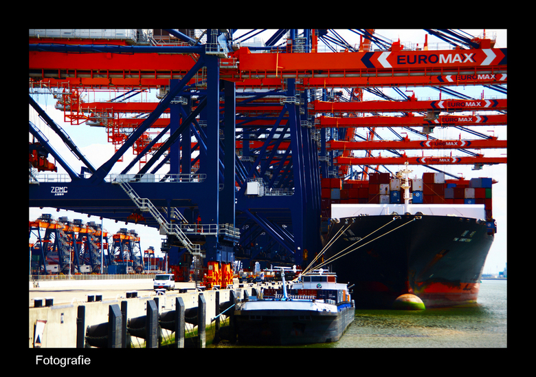 Container overslag Rotterdam - Container overslag Rotterdamse haven