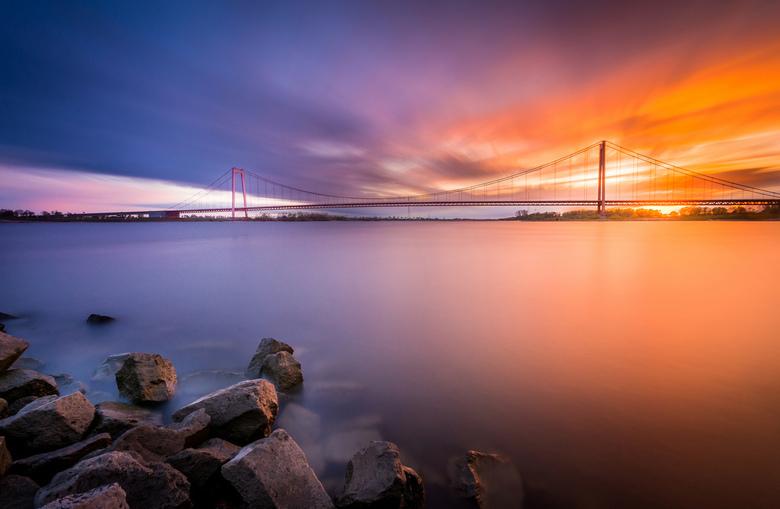 Rhine bridge Sunset