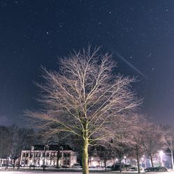 Mooie heldere nacht boven Zwolle