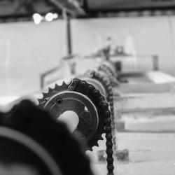 verlaten steenfabriek, close-up