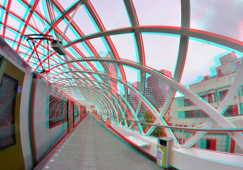 Centraal.station Randstadrail Den Haag 3D - Centraal-station Den Haag<br /> 3D stereo anaglyph  d7000 Rokinon 8mm