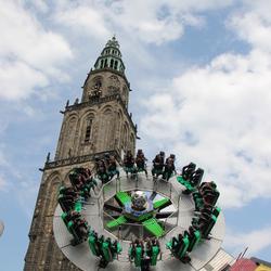De jaarlijkse Meikermis in Groningen