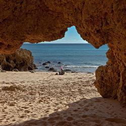 aan de kust in de Algarve