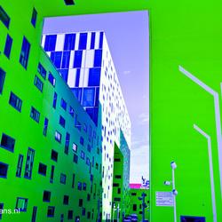 Groen gebouw St Etienne
